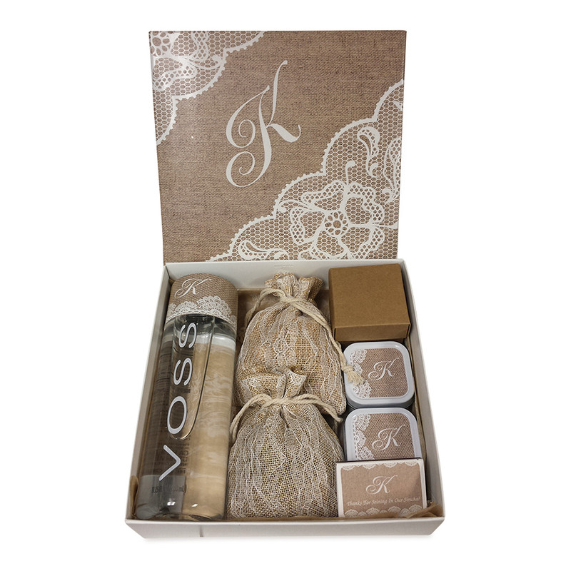 Vintage Lace Monogrammed Welcome Box