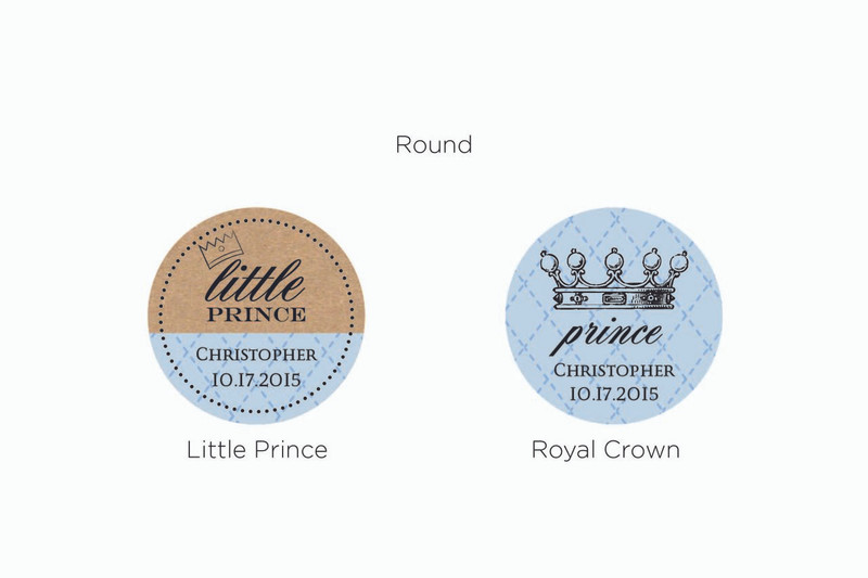 Personalized Gold Round Candy Tin - Little Prince (Set of 12)
