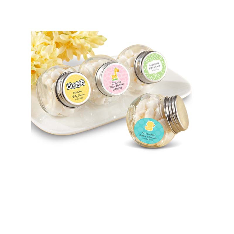 Mini Glass Favor Jar - Baby (Set of 12) (Available Personalized)