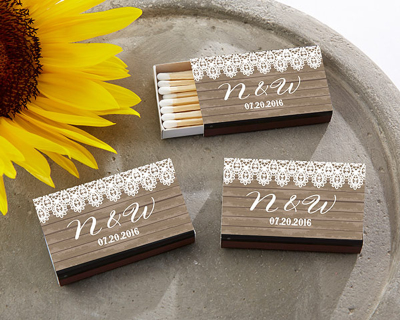 Personalized Black Matchboxes - Country