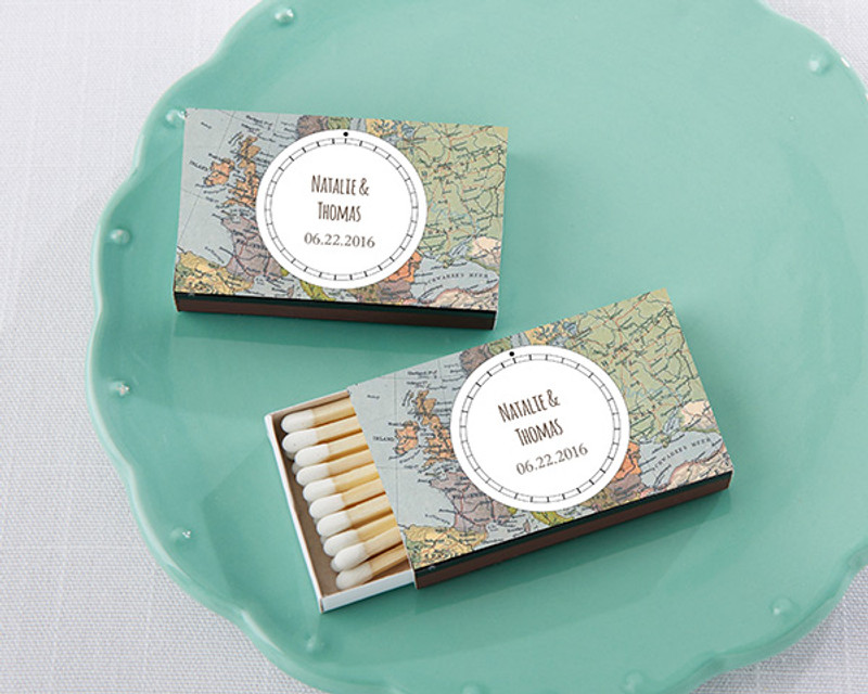 Personalized Black Matchboxes - Travel