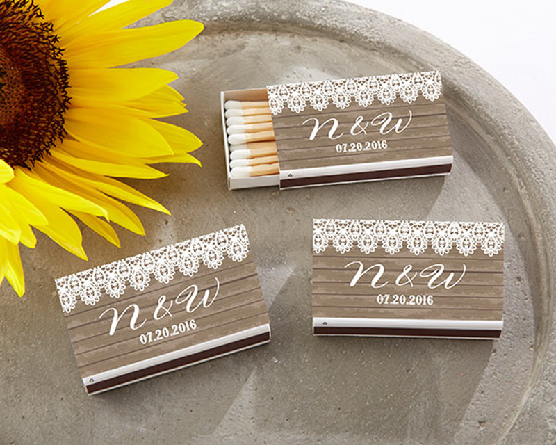 Personalized White Matchboxes - Country