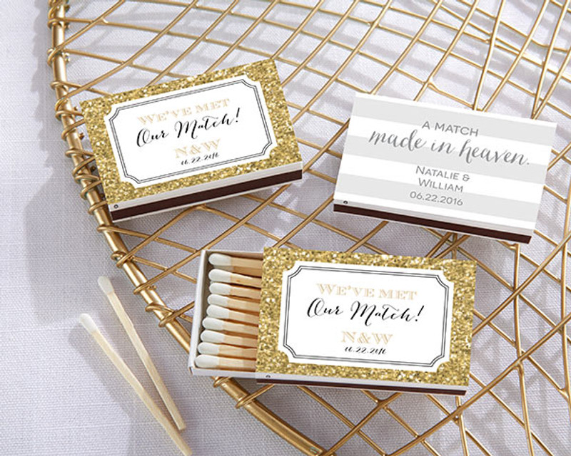 Personalized White Matchboxes - Wedding