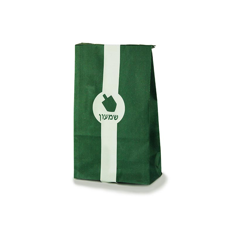 Paper Bag with Dreidel Wrap