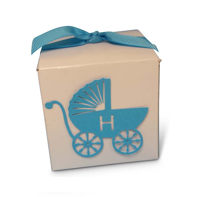 Lasercut Baby Carriage Vachnacht Peckel Box, (Ribbon Sold Separately) More colors available!