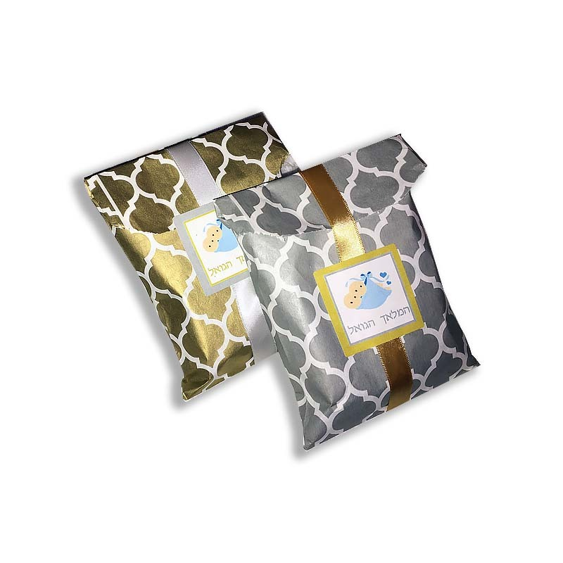 Casablanca Gold or Silver Twins Peckel Bag, Label & Ribbon Included