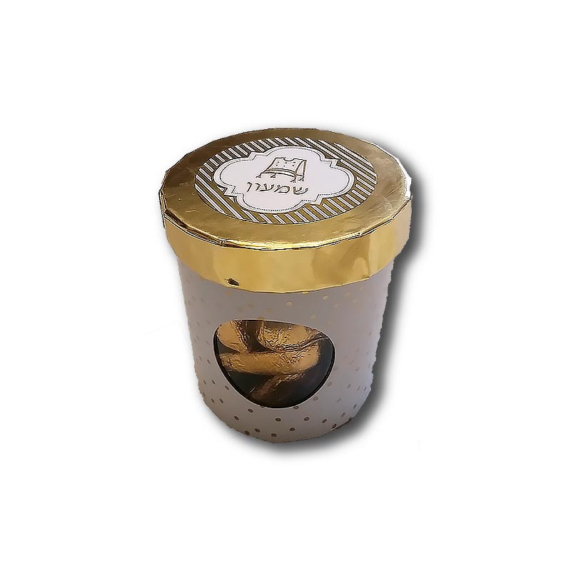 Upsherin Gold Ice Cream Favor Box