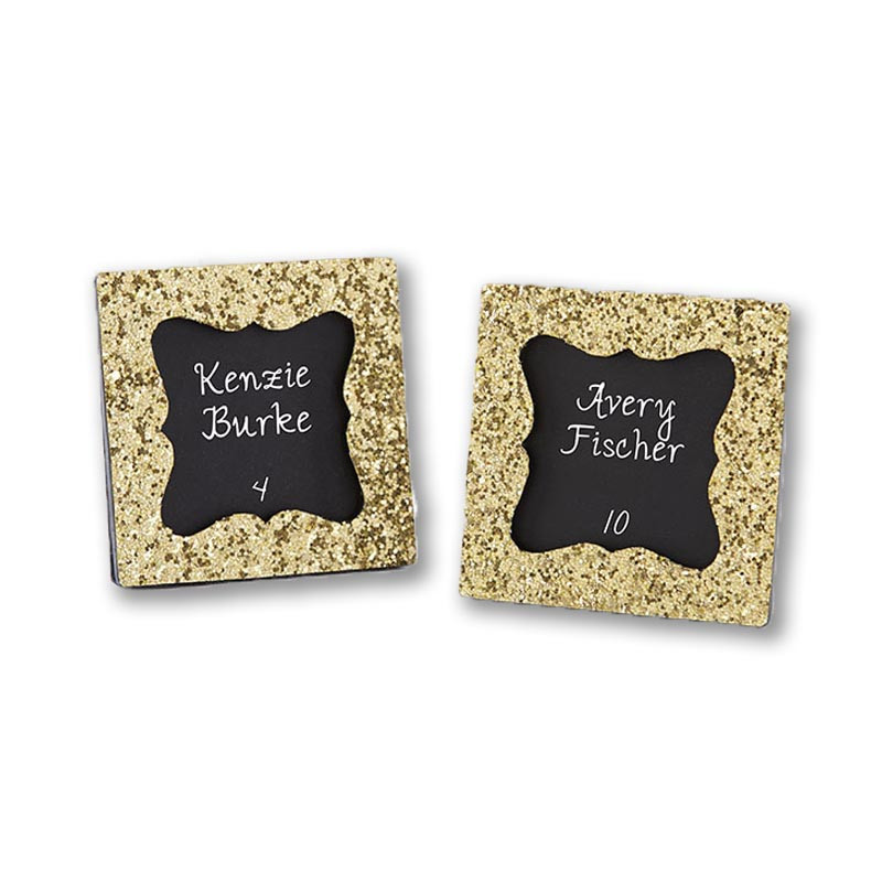 """ALL THAT GLITTERS"" GOLD GLITTER FRAME (Custom placecards available upon request)"