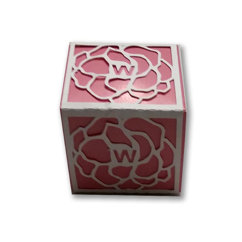 Floral wrap favor box
