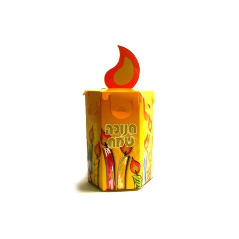 Chanukah Candle Goodie Box 10pk.