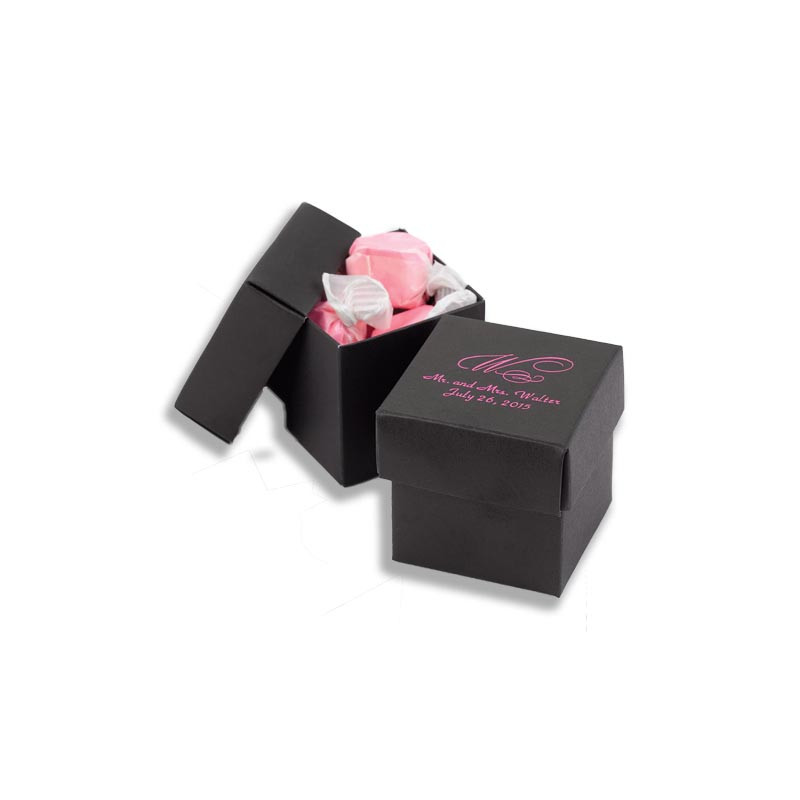 Black 2 piece Favor Boxes (Pack of 25)