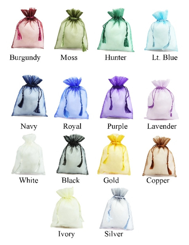 Tassel Bags Sheer Organza (15 colors available)