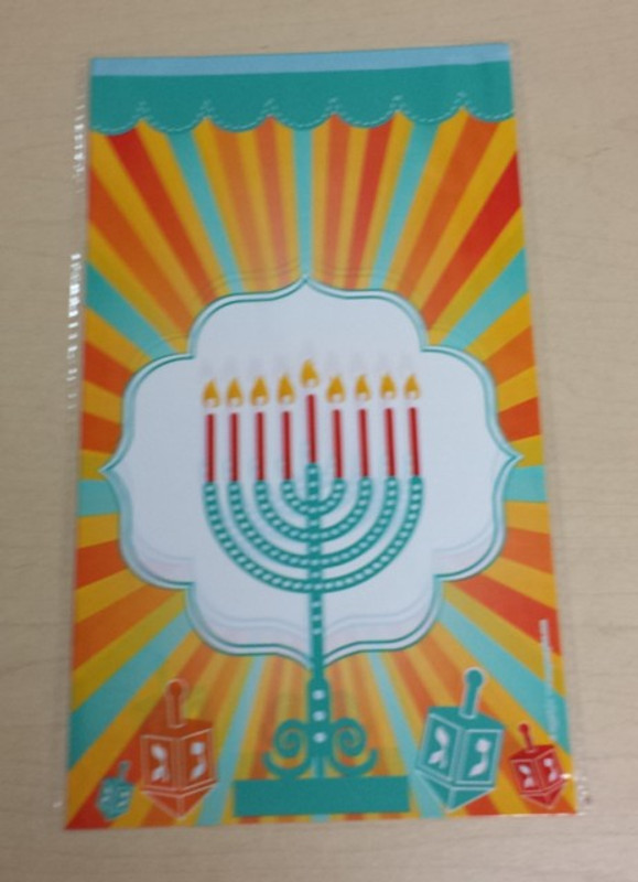 Chanukah Cellophane Goodie Bags