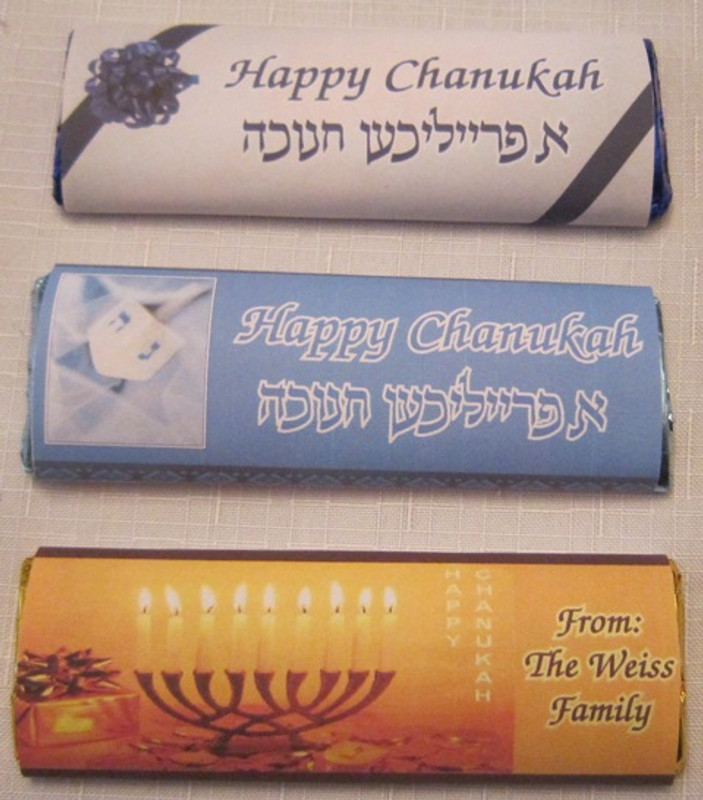 Chanukah Personalized Chocolate Bars