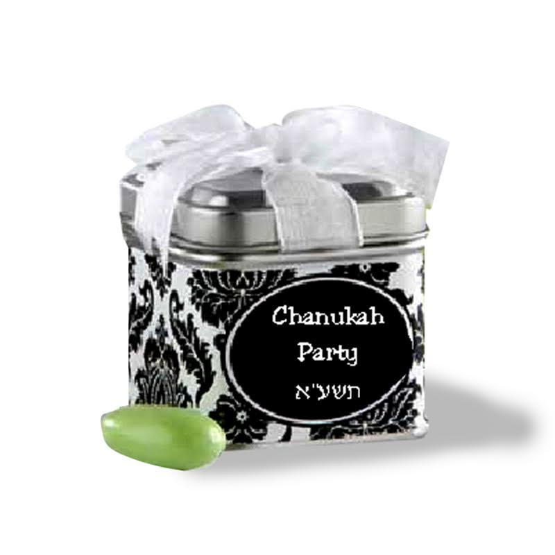 Chanukah Present Mini Favor Tin