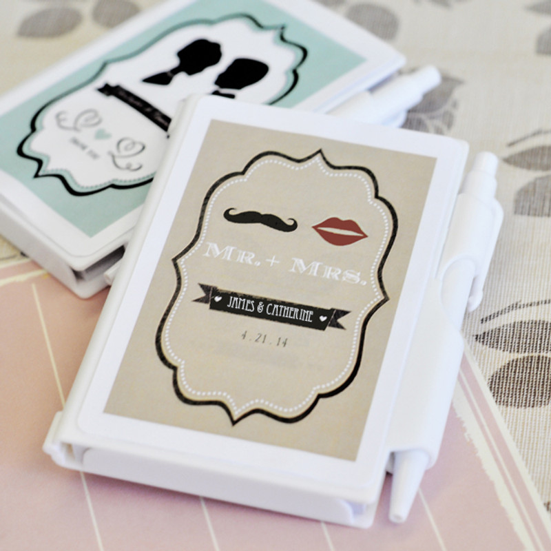 Vintage Wedding Personalized Notebook Favors