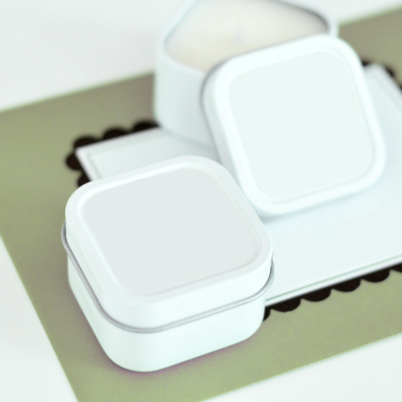 Square Candle Tins - Personalized to match (Set of 2)