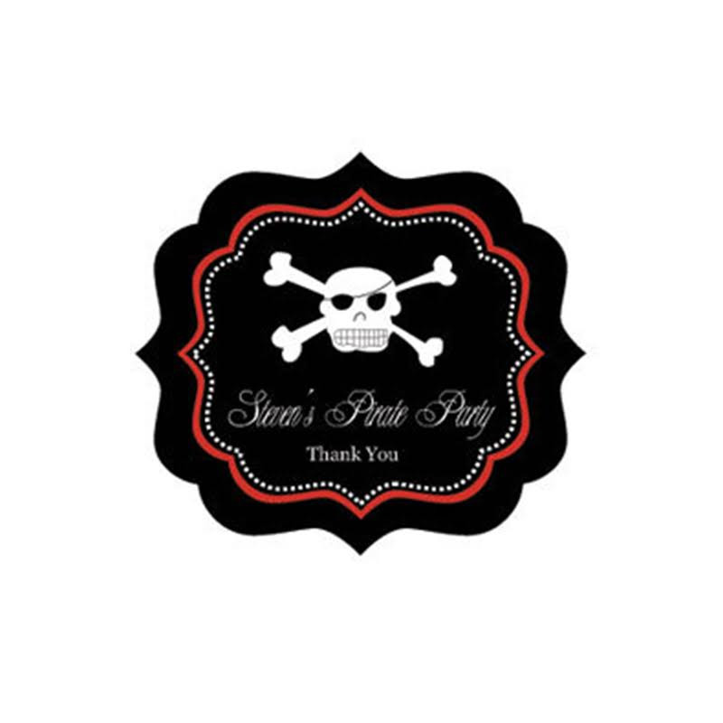 Pirate Party Frame Personalized Labels