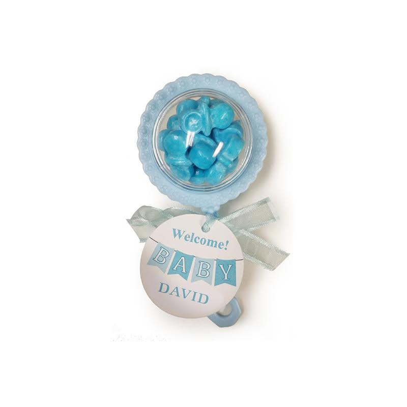 Blue Baby Rattle Container