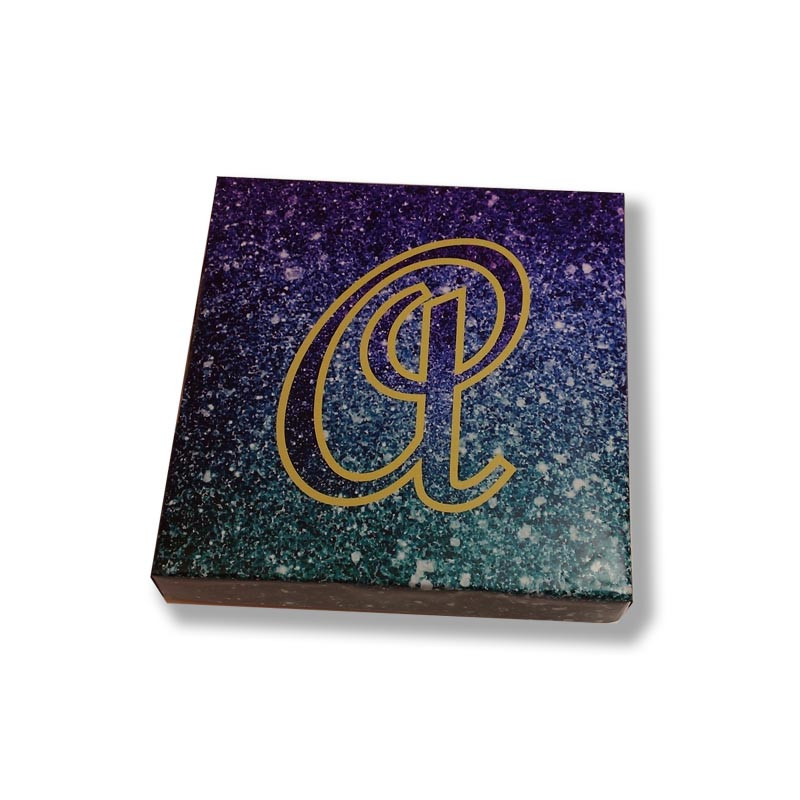 Purple & Teal Ombre Glitter Mishloach Manos Box