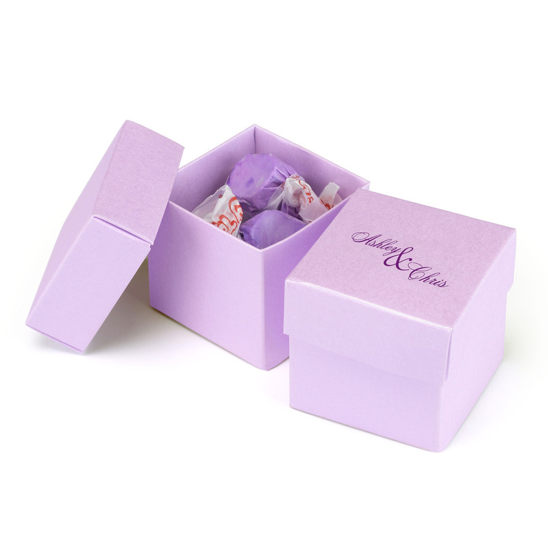 Ice Purple 2 piece Favor Boxes (Pack of 25)