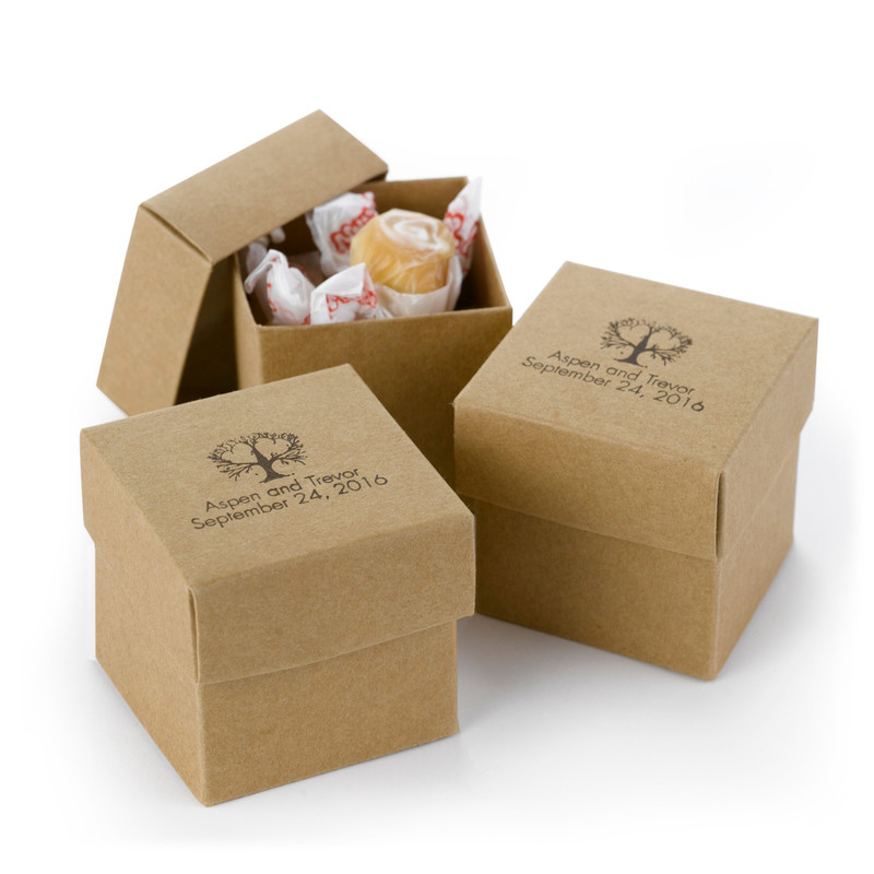 Kraft 2 piece Favor Boxes (Pack of 25)