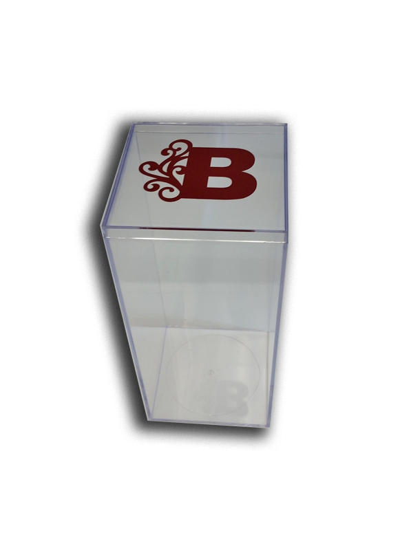 "Monogrammed 8"" x 4"" Lucite Box, Personalization available in colors"