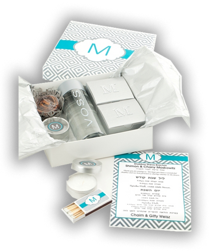 Diamond Monogrammed Welcome Gift Package