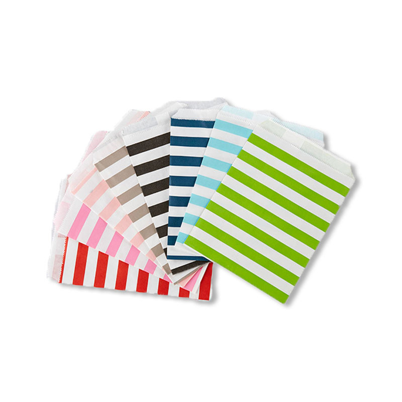 Horizontal Stripe Favor Bags