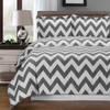 Gray/White-Chevron-Combed-Cotton-Duvet-Cover-Set