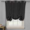 Soho Triple-Pass Thermal Insulated Blackout Curtain Top Grommet-Black