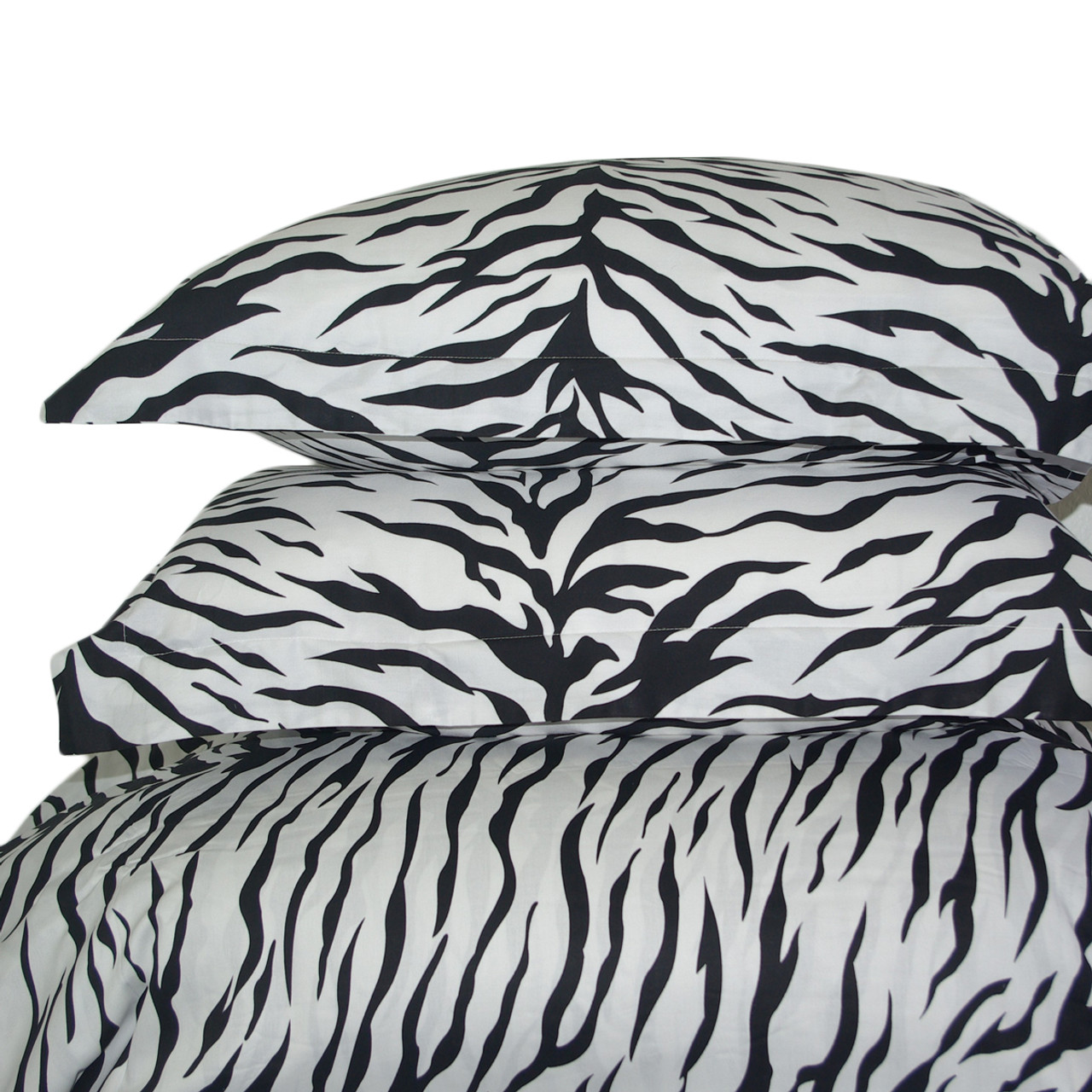 Zebra 100 Cotton 3 Piece Duvet Cover Set