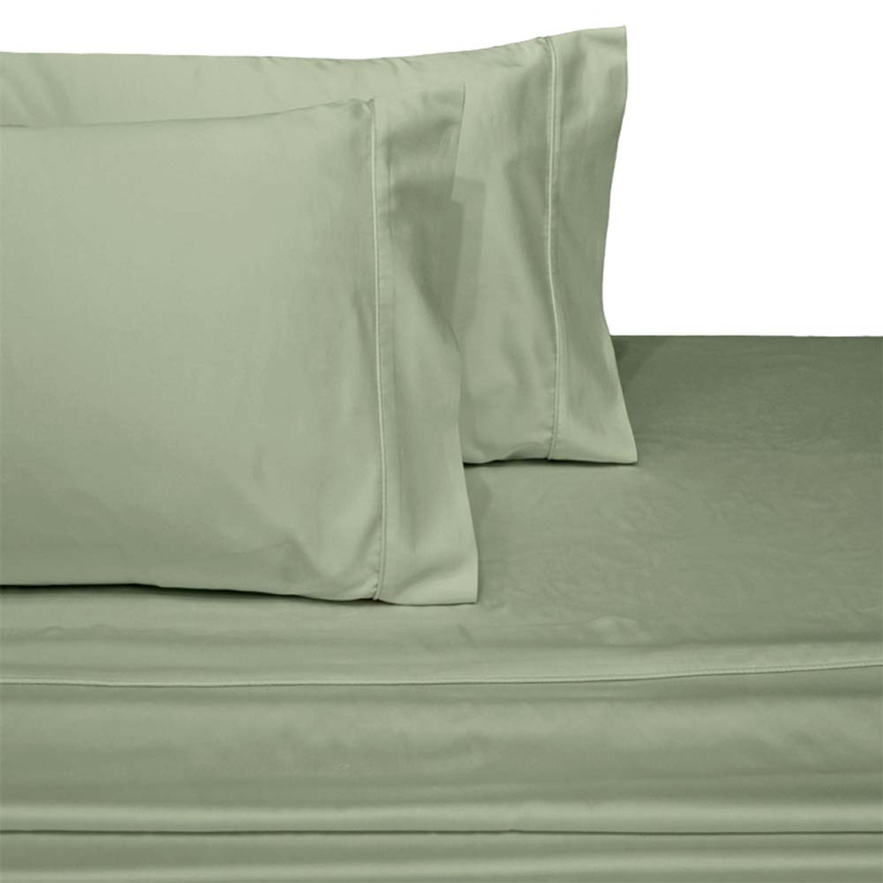 ... Luxury Cotton 600 Thread Count Solid Bed Sheets  ...