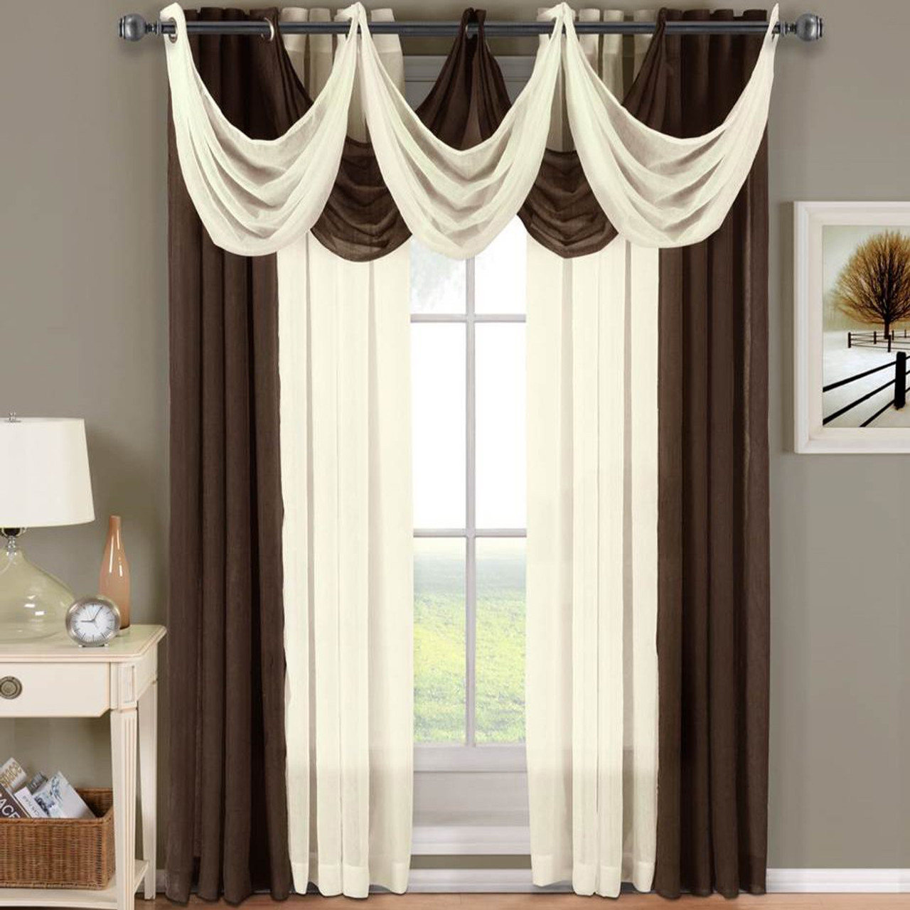 Abri Grommet Crushed Sheer Curtain Panel (Single