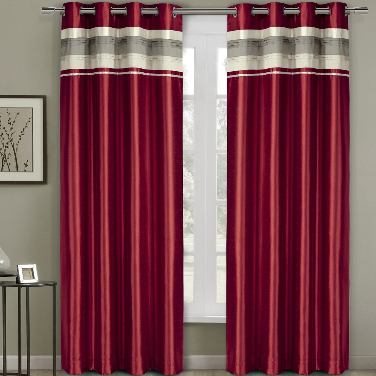 focus eyelet at curtains buy home siesta in blackout red online pink