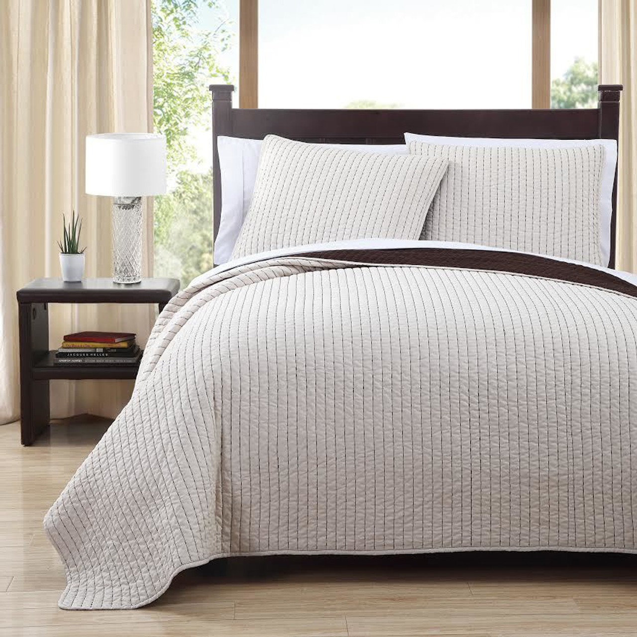 Project Runway Oversized Reversible Quilted Coverlet Sets