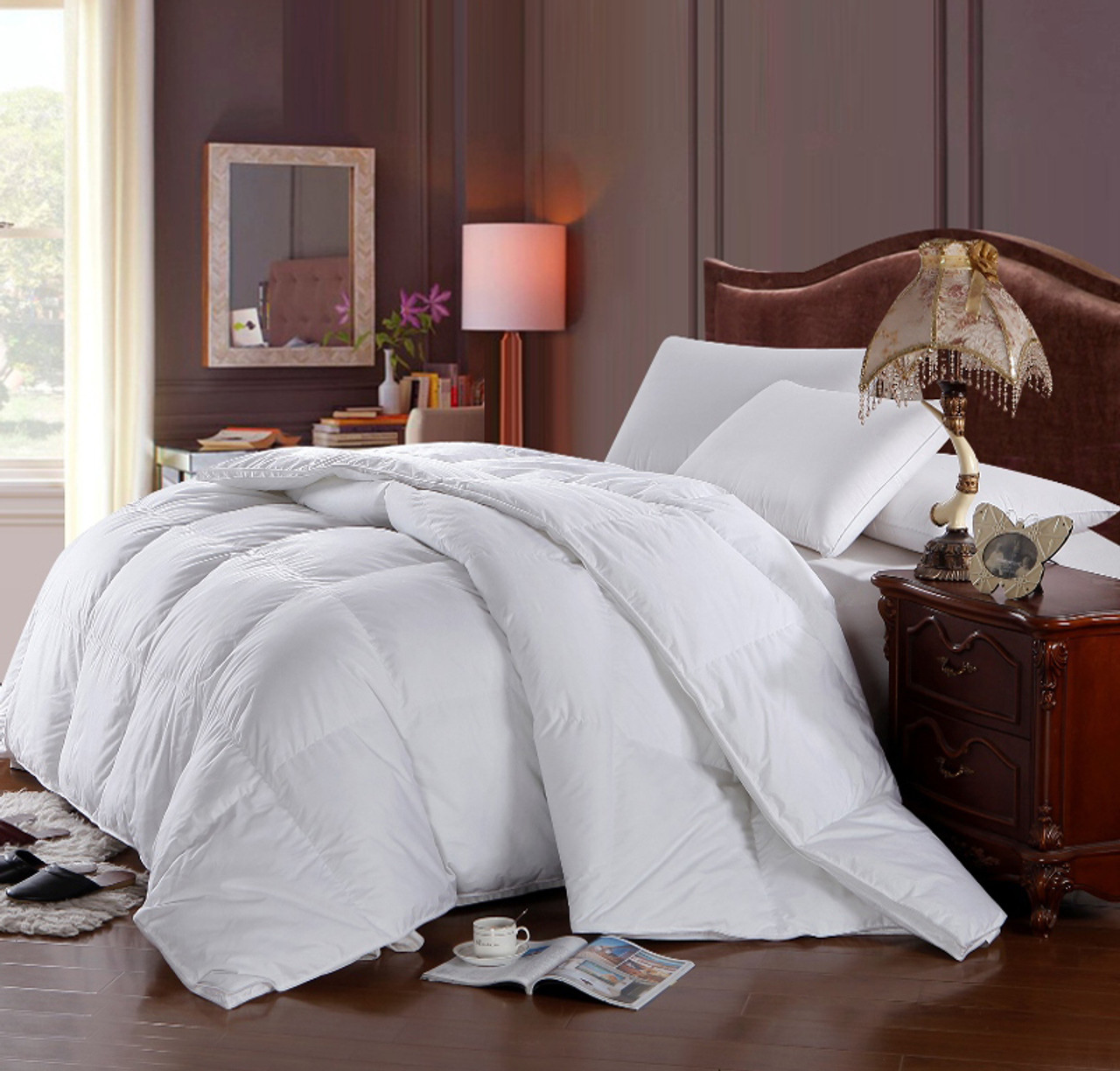 comforters luxlen cvb twin fill extra duvets white thread luxury count grand power down op comforter xl bedding long
