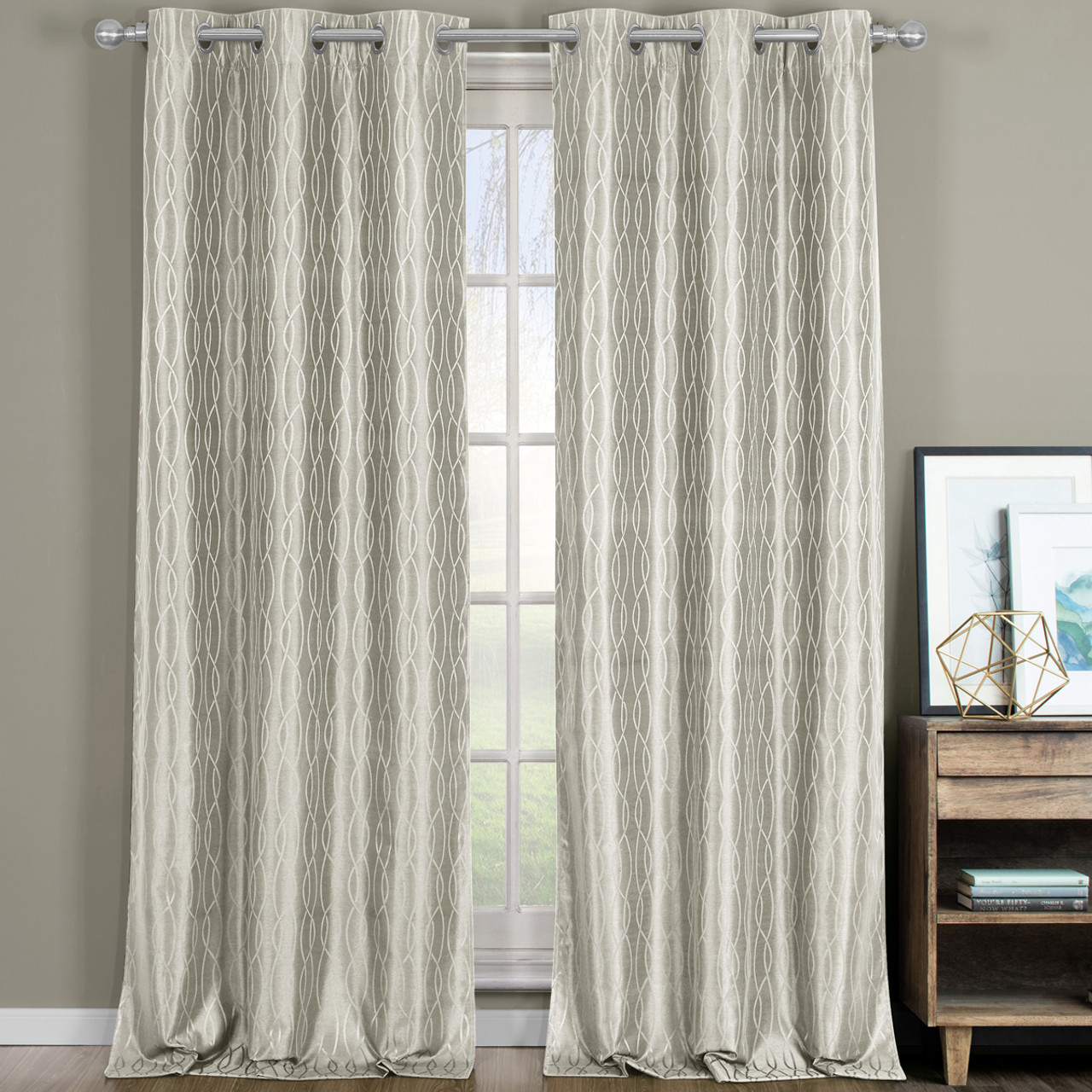 Best Drapes Voyage Thermal Blackout Curtains With Grommets Set Of 2 Panels