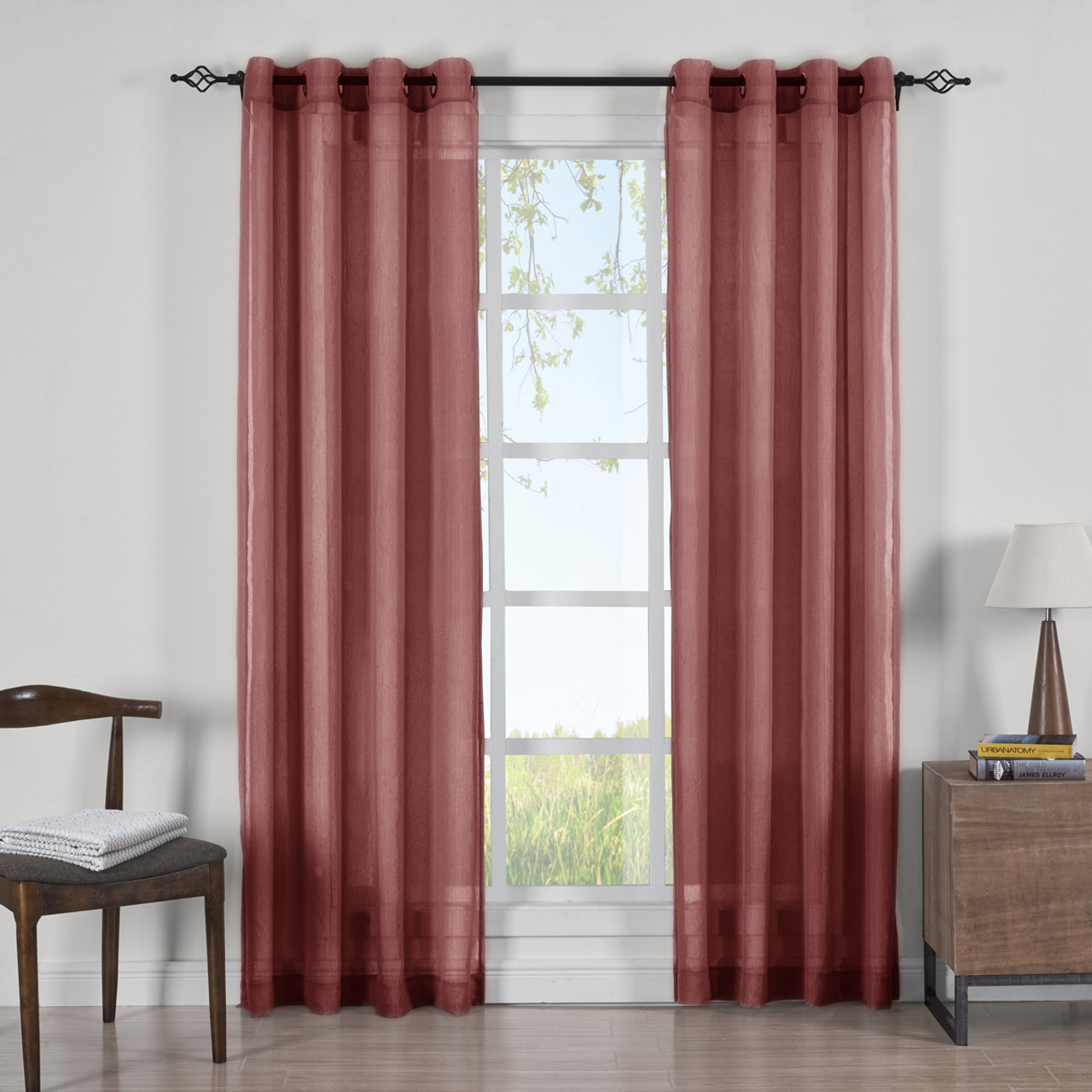 home free overstock sheer soho curtain panel garden orders lightweight shipping product panels on over voile