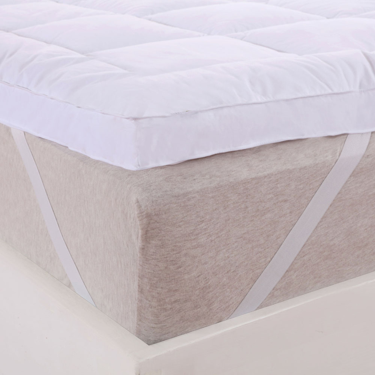 2 Inch Thick Comfort Mattress Topper 100 Cotton Shell