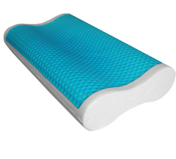 Abripedic Comfort Contour Cool Gel Memory Foam Pillow (Single or Set of 2)
