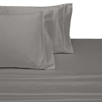 Luxury-Cotton-600-Thread-Count-Solid-Bed-Sheets-Set-Gray