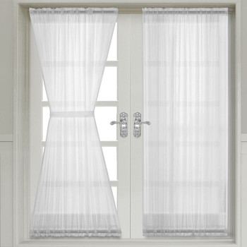 Abri Crushed Sheer Door Curtain Panel (Single)