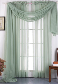 rod pocket sheer curtains-Sage