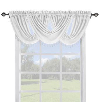 White-Soho-Faux-Silk-Curtain-Waterfall-Valance