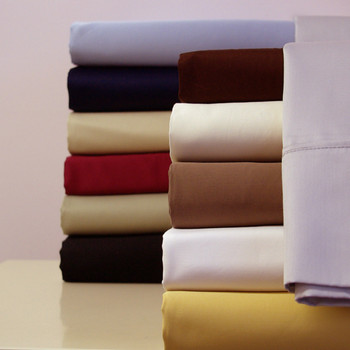 Attached Waterbed Sheets Solid 100-Percent Cotton 300 Thread Count