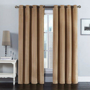 "Velvet Grommet Top Curtain Panel 108""W x 84""L(Pair)"