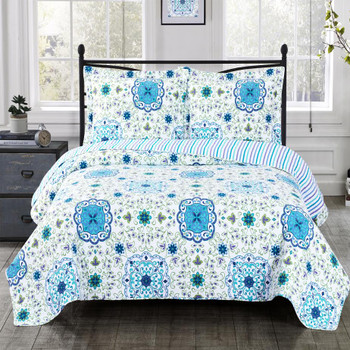 Arielle Wrinkle-Free Quilts Oversized In Twin, Queen or King Quilt Sets