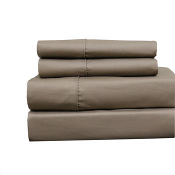 Solid Olympic Queen Size Wrinkle-Free Cotton 650 Thread Count Sheet Sets