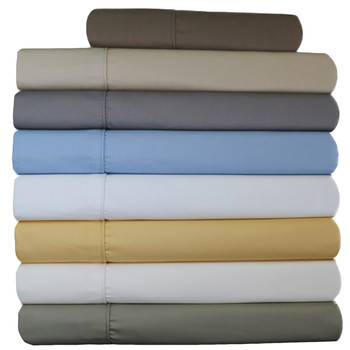 Wrinkle-Free Extra Long Twin Sheets Size 650 Thread Count Solid
